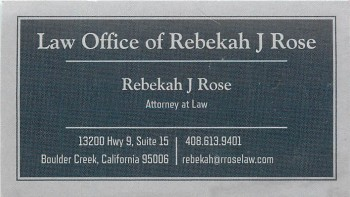 Rebekah Rose bus card