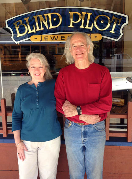 Sheila and Jerry De Lany of Blind Pilot Jewelers