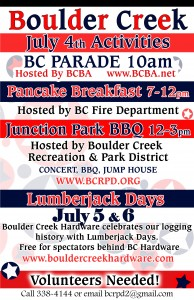 Town Activites for July Fourth