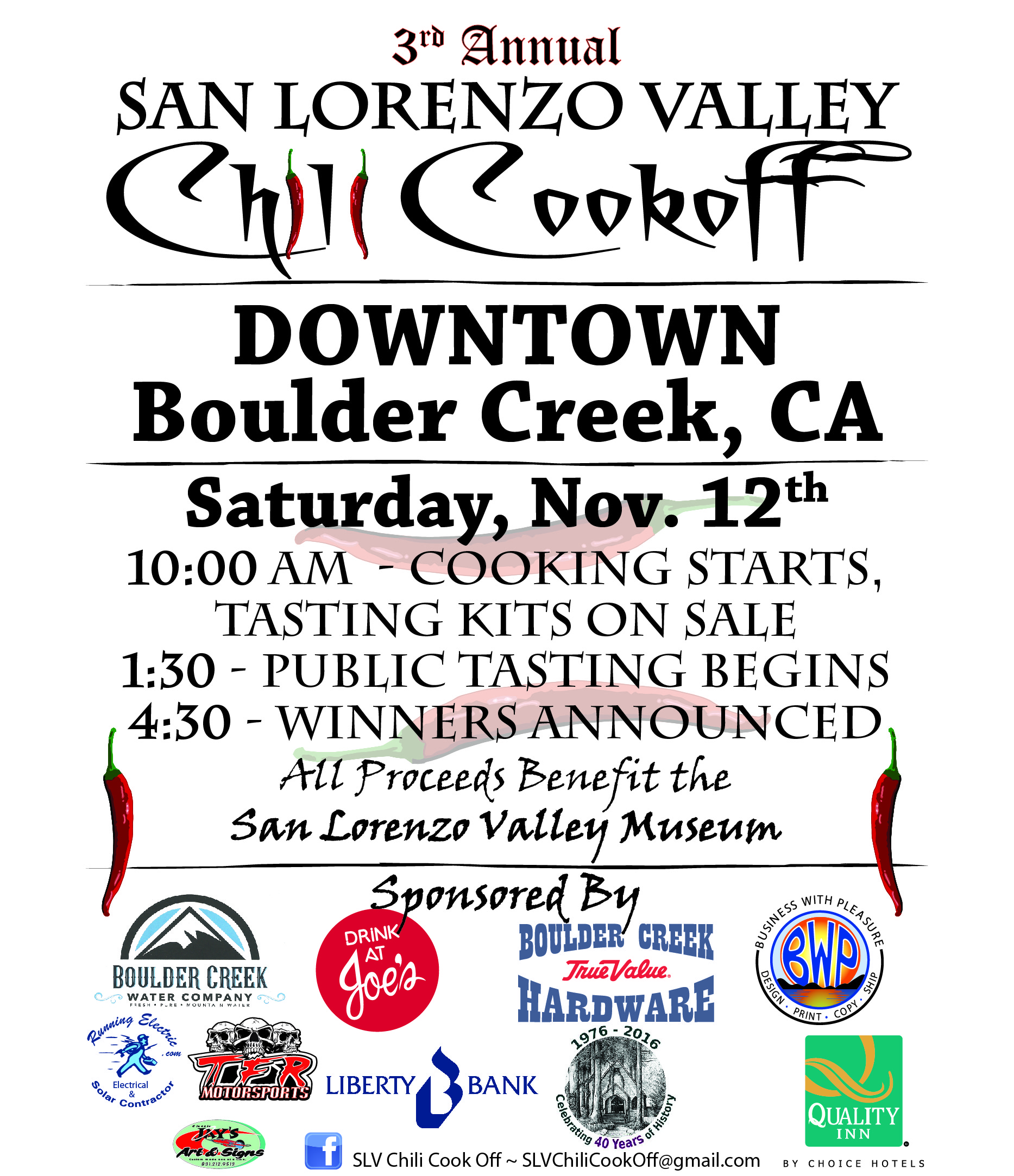 3rd Chili Cookoff flyer
